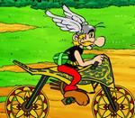 Астерикс на мотоцикле