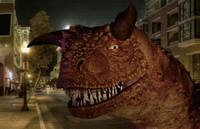 Динозавр в Париже