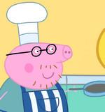 Cвинка Пеппа готовить еду