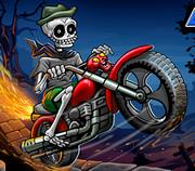 Скелет на мотоцикле 2