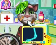 Том упал с велосипеда