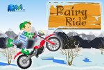 Мотогонщик на снегу
